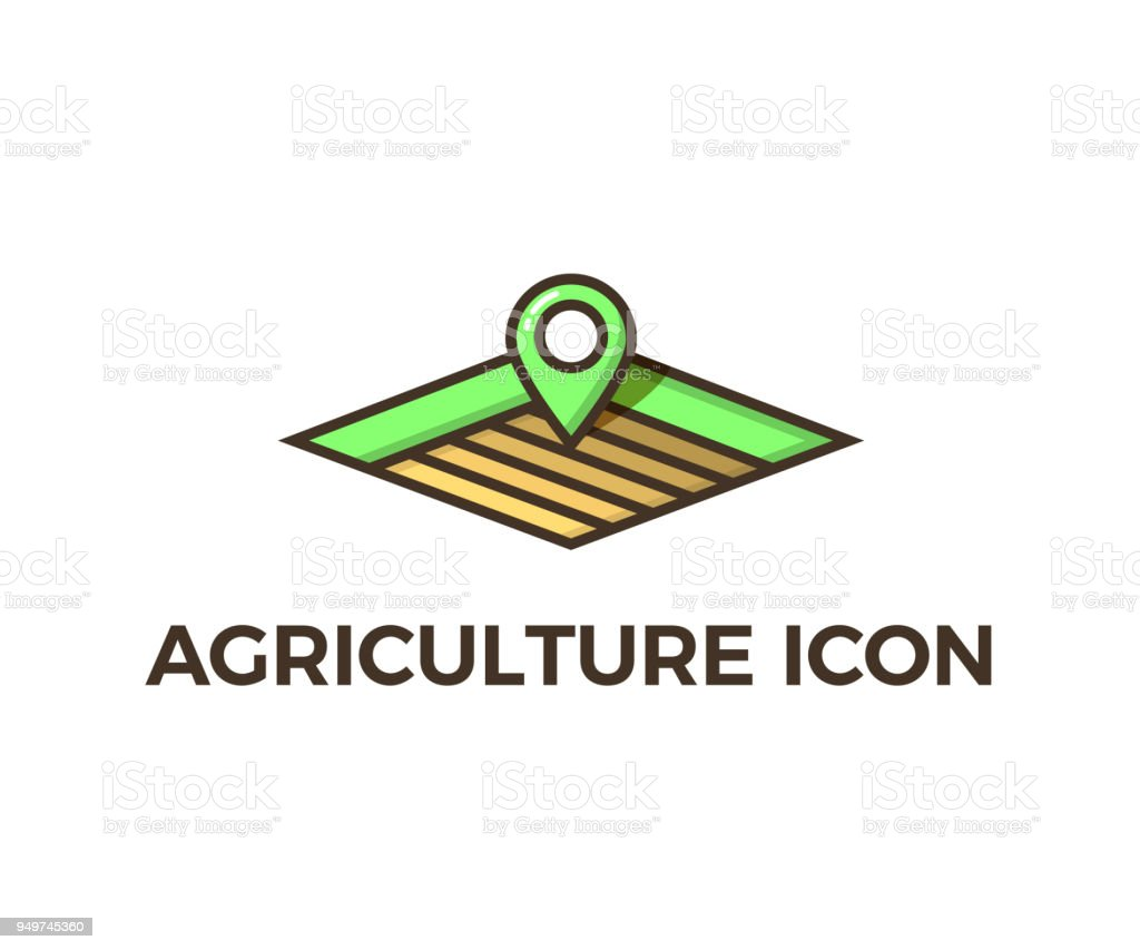 Agriculture Icon Different Layers Of Empty Fields For Cultivation