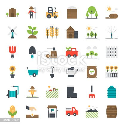 Agriculture icon, isolated on white background