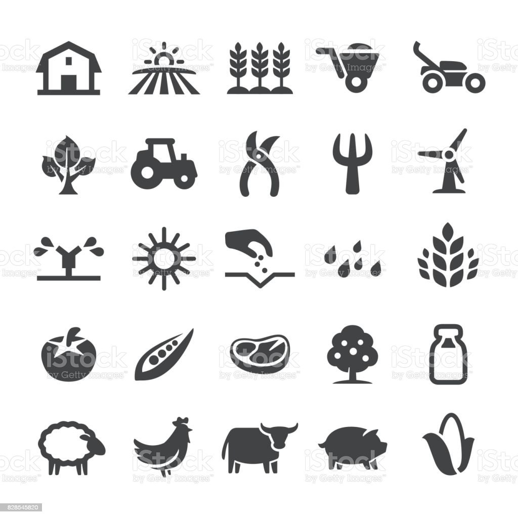 L'agriculture Icons - série Smart - Illustration vectorielle