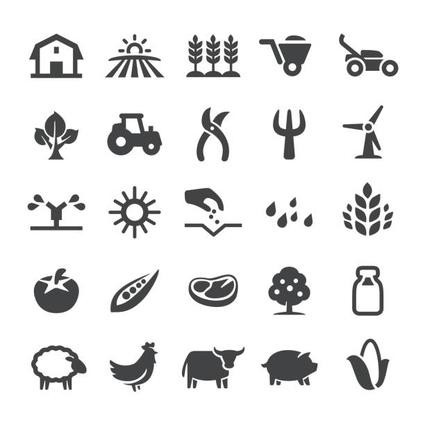 Agriculture Icons - Smart Series vector art illustration
