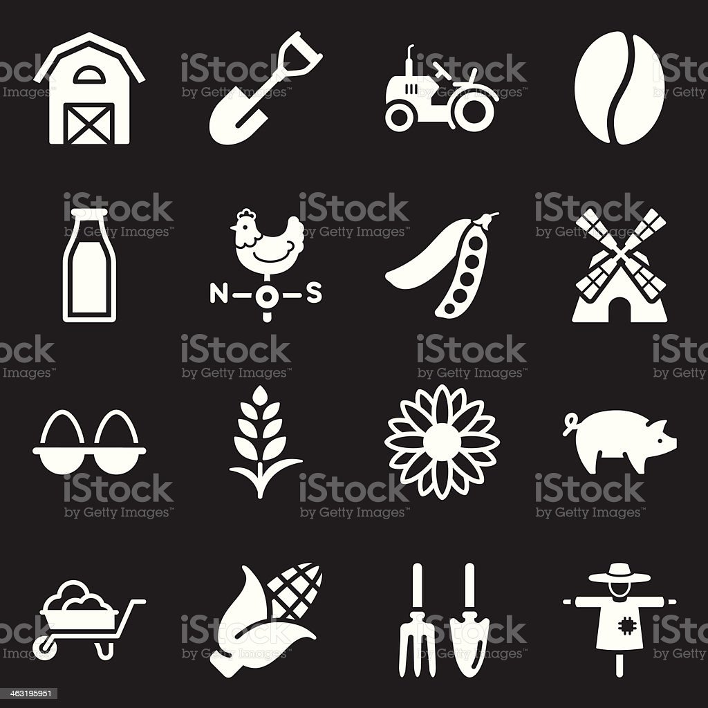 Agriculture Icons - White Series royalty-free agriculture icons white series stock vector art & more images of agriculture