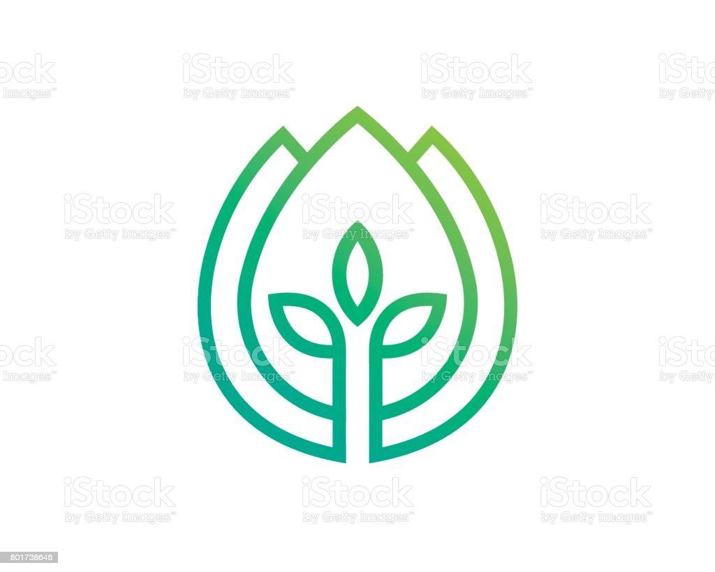 Agriculture Symbol Template Design Vector, Emblem, Design Concept, Creative Symbol, Icon vector art illustration