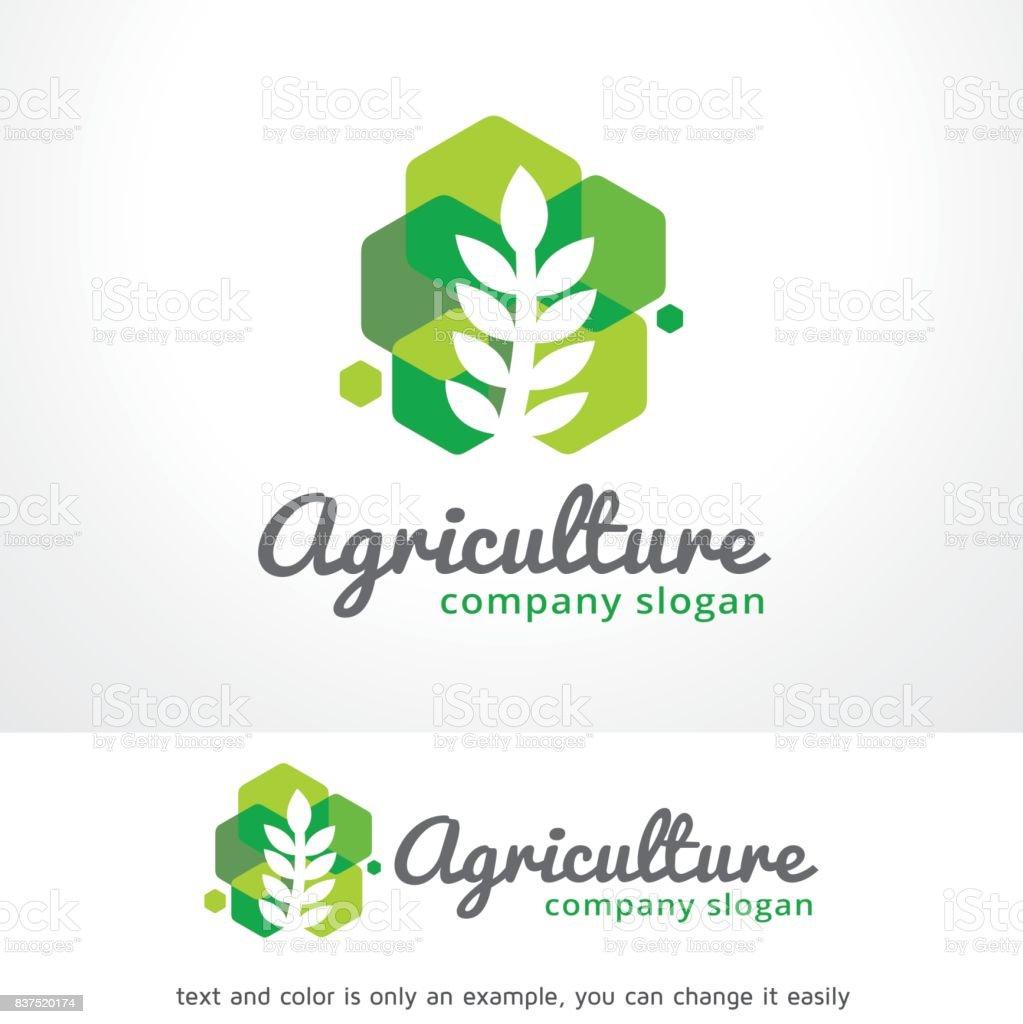 L'agriculture symbole Template Design vecteur, emblème, Design Concept, création de symbole, icône - Illustration vectorielle