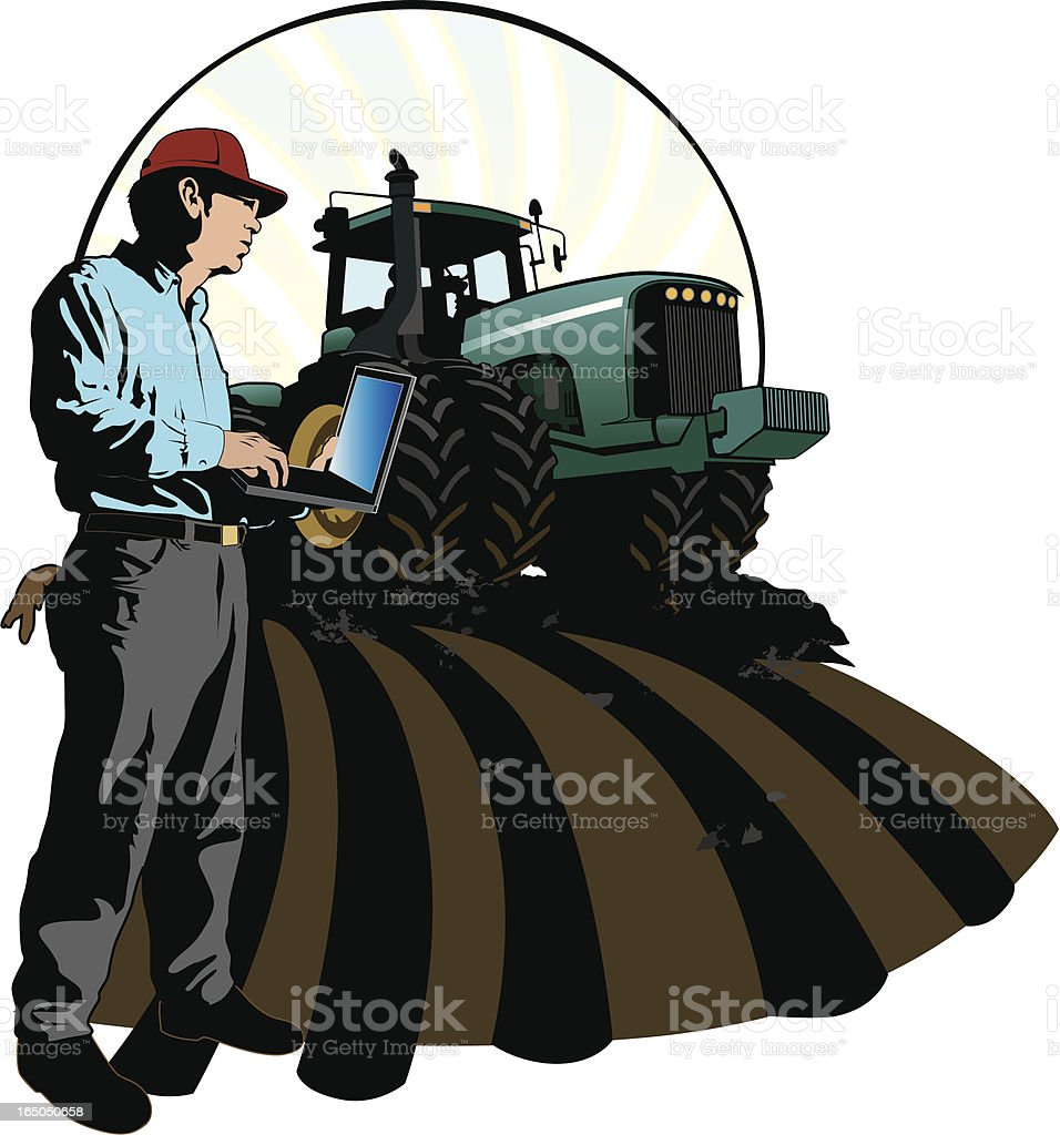 Agriculture: The Modern Farmer royalty-free agriculture the modern farmer stock vector art & more images of adult