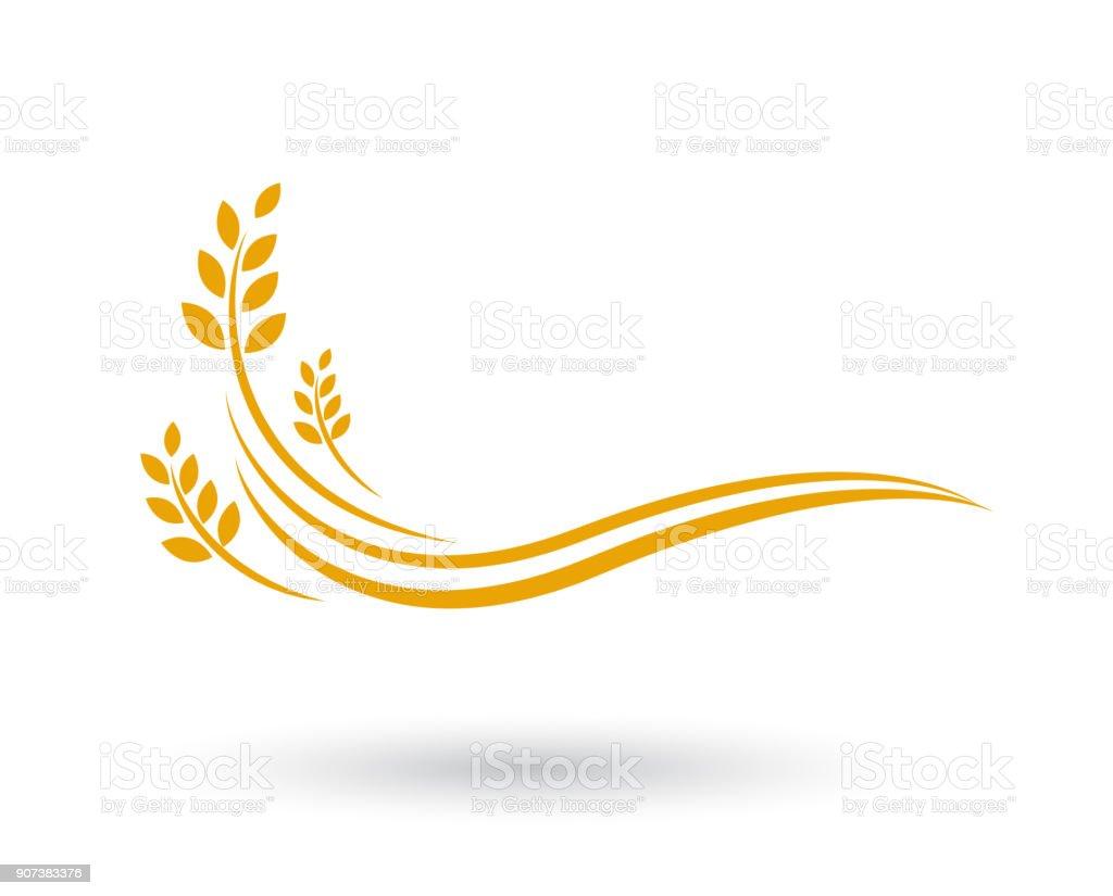 Landwirtschaft Weizen Vorlage Vektor Icon-design - Lizenzfrei Agrarbetrieb Vektorgrafik