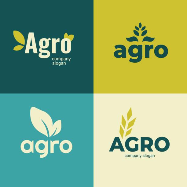 Agro company icons – artystyczna grafika wektorowa