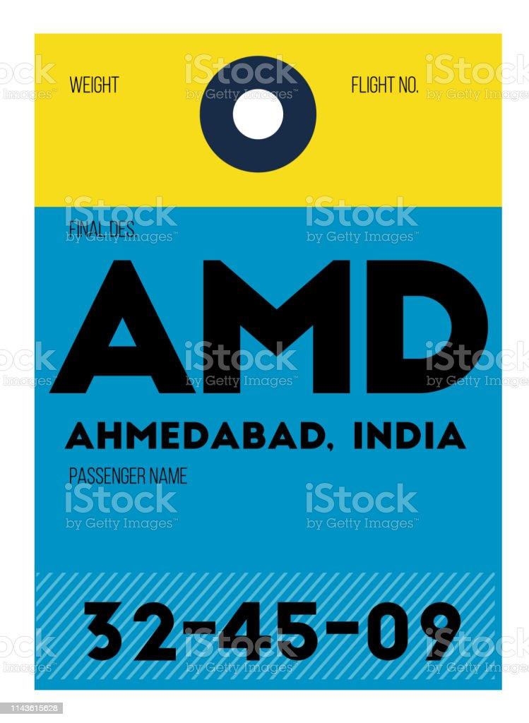 Ahmedabad airport luggage tag