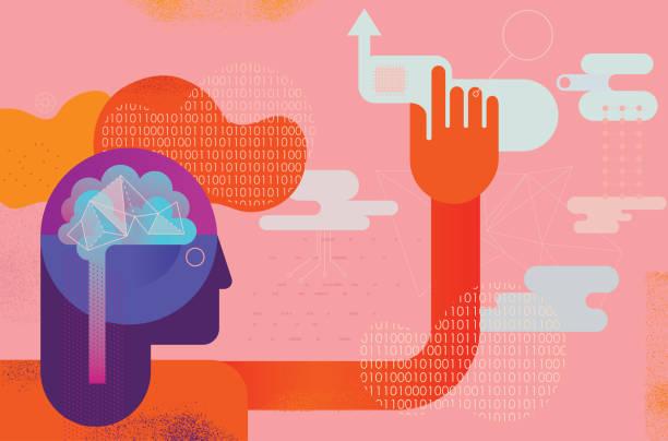 Ai Mind Power Concept – Vektorgrafik
