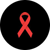 Aids Awareness Red Ribbon Icon