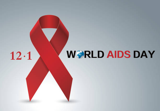 aids red ribbon - aids stock illustrations