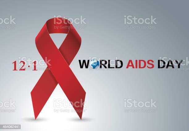 Aids Red Ribbon向量圖形及更多世界愛滋日圖片