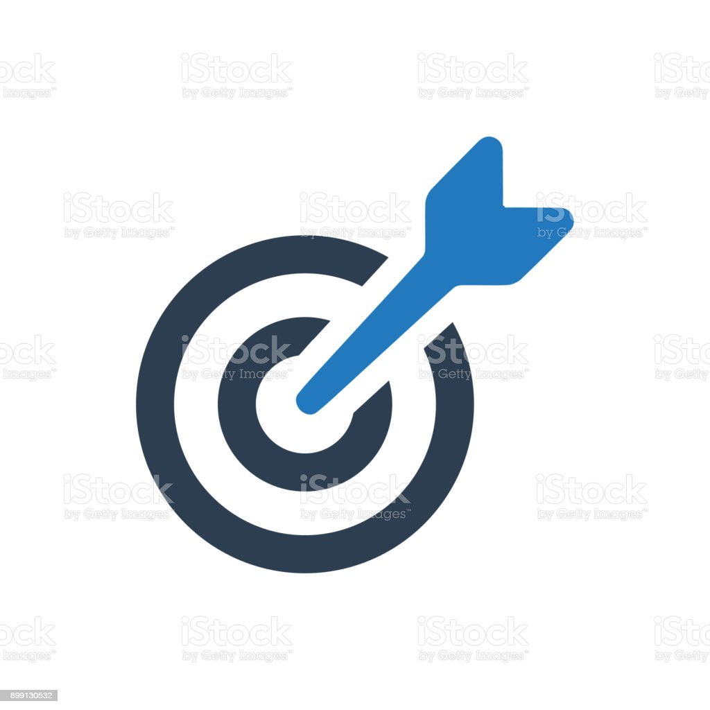 Icono de objetivo - ilustración de arte vectorial