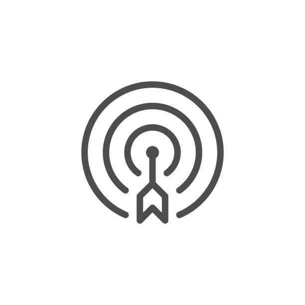 Aim line icon Aim line icon isolated on white. Vector illustration accuracy stock illustrations