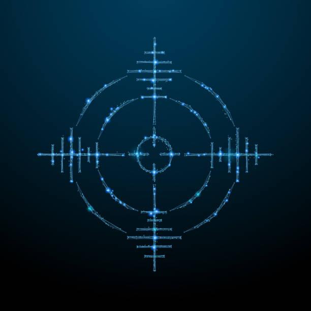 Ziel-low-Poly blau – Vektorgrafik