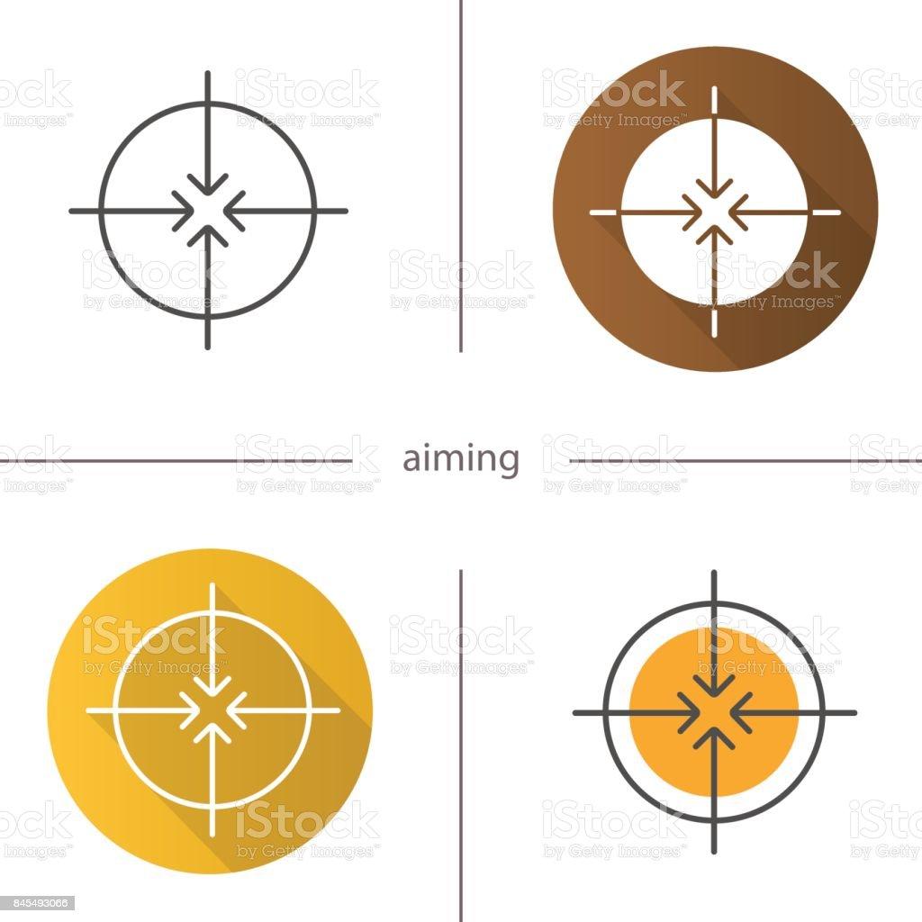 Aiming symbol icon vector art illustration