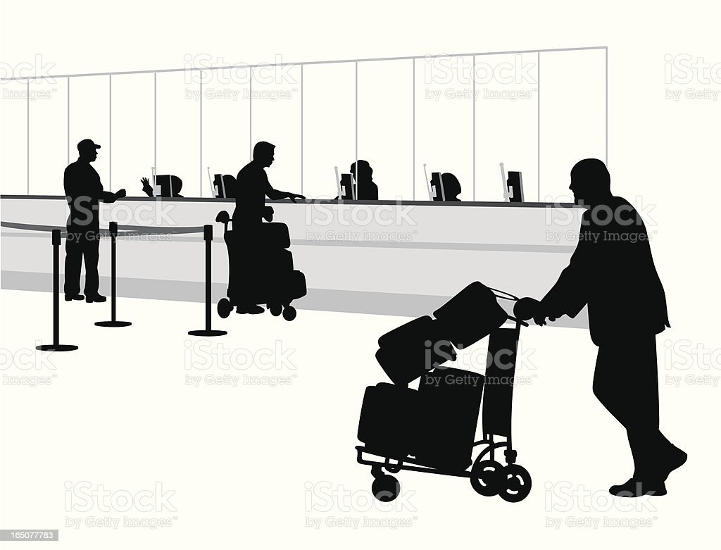 Aiport Counter Vector Silhouette royalty-free aiport counter vector silhouette stock vector art & more images of adult