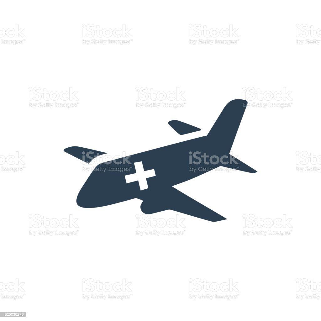 Air Ambulance Icon vector art illustration
