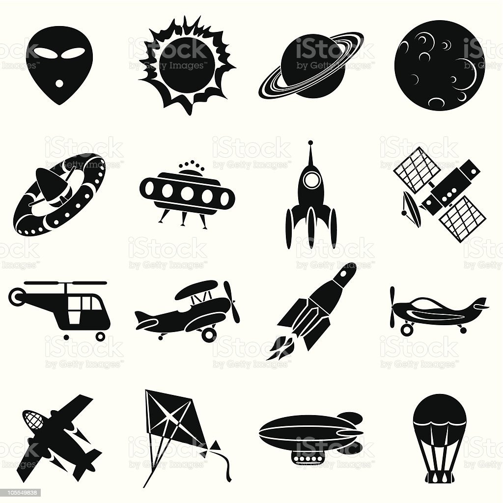 air and space icons royalty-free air and space icons stock vector art & more images of aerospace industry