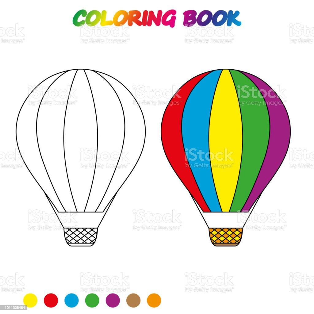 Balon Sayfa Boyama Hava Calisma Sayfasi Cocuklar Boyama Kitabi