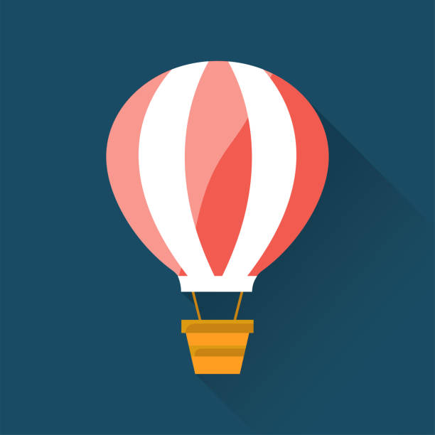 Air Balloon Flat Icon Air Balloon Flat Icon hot air balloon stock illustrations
