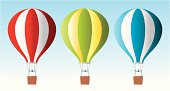 Air baloons in sky. Pdf, ai10, cdr10 and jpeg in zip.