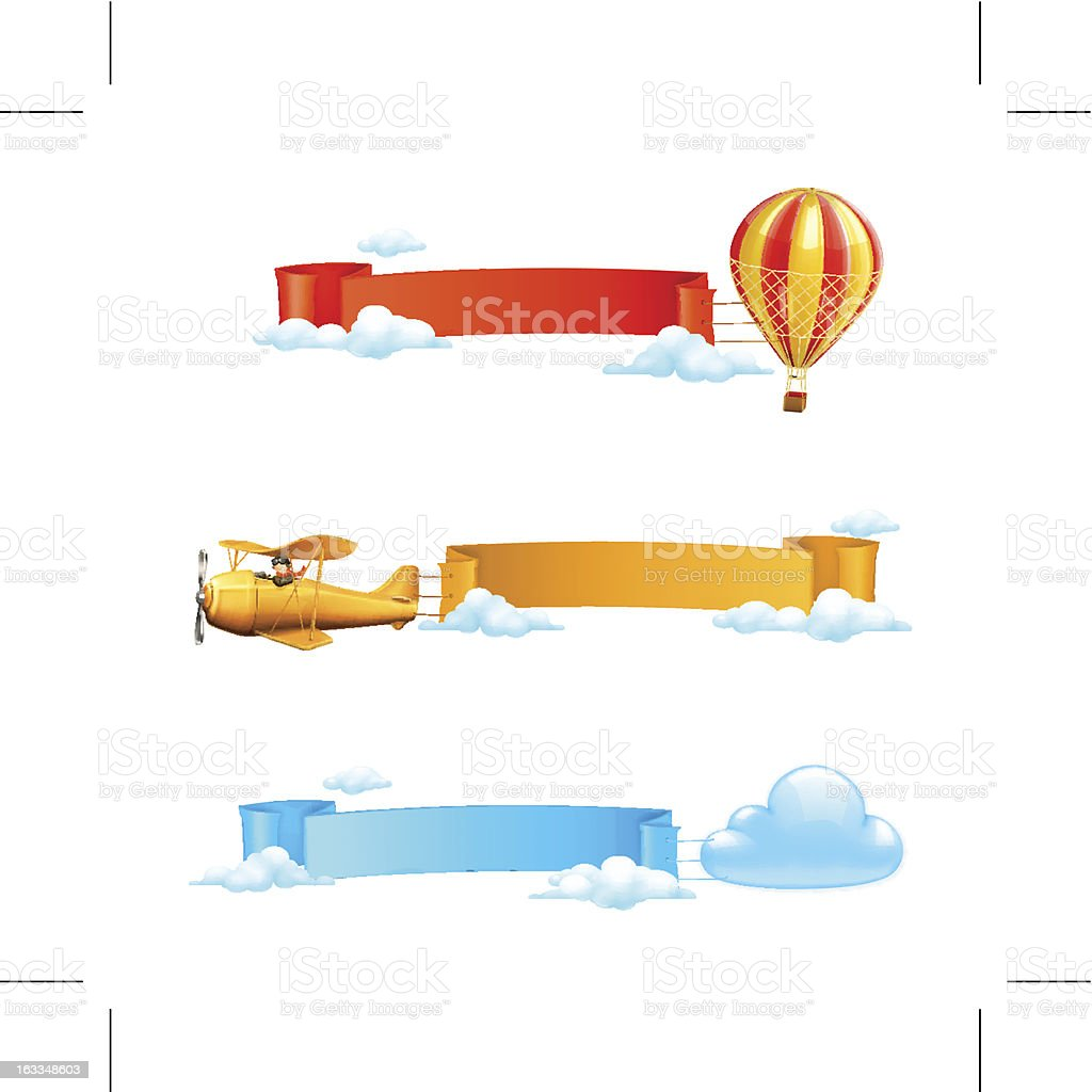 Air banners royalty-free air banners stock vector art & more images of adventure