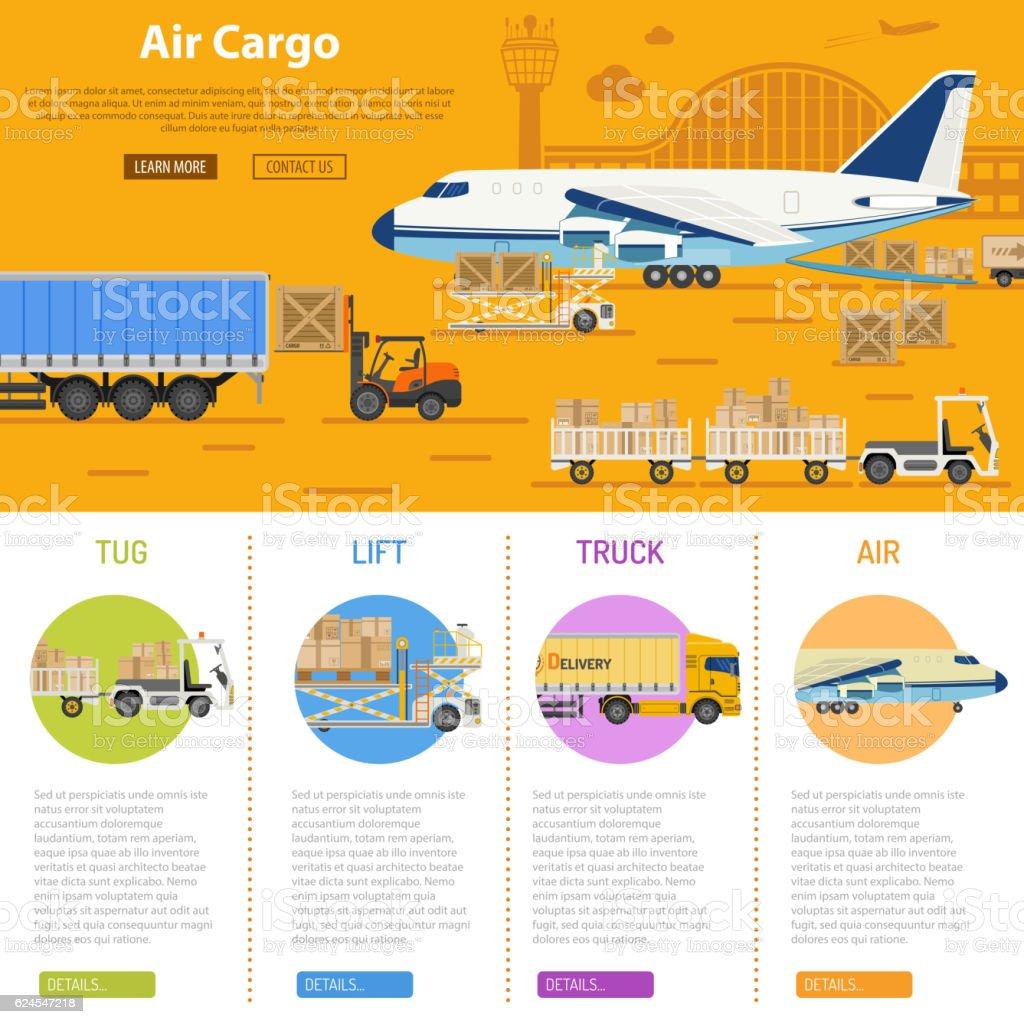 Air cargo infographics vector art illustration