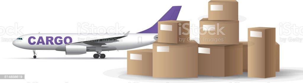 Air cargo vector art illustration