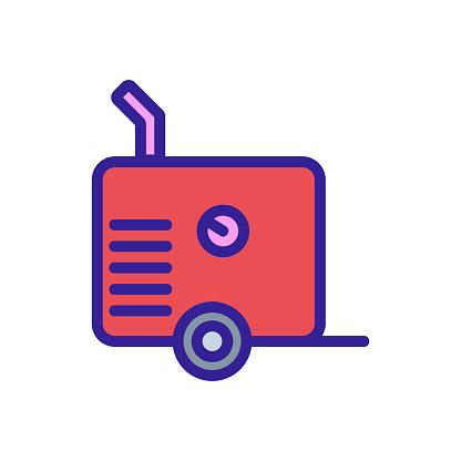 air compressor part icon vector outline illustration