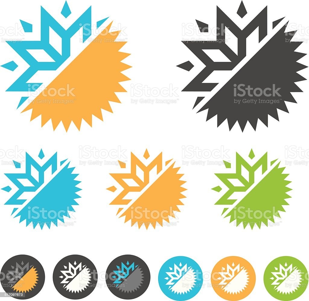 air condition logo vector art illustration