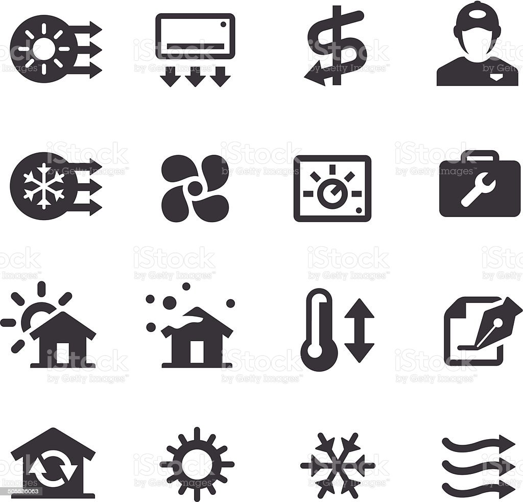 air conditioning icon vector. air condition system icons - acme series royalty-free stock vector art conditioning icon 6