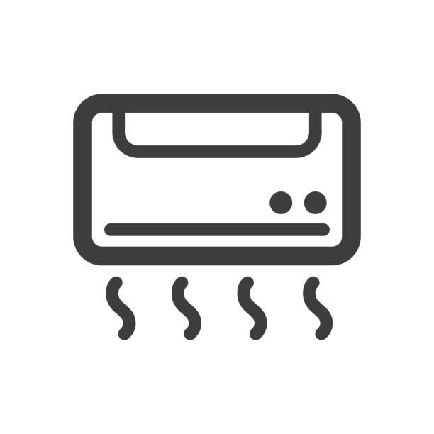 ilustrações, clipart, desenhos animados e ícones de ícone do condicionador de ar - ar condicionado