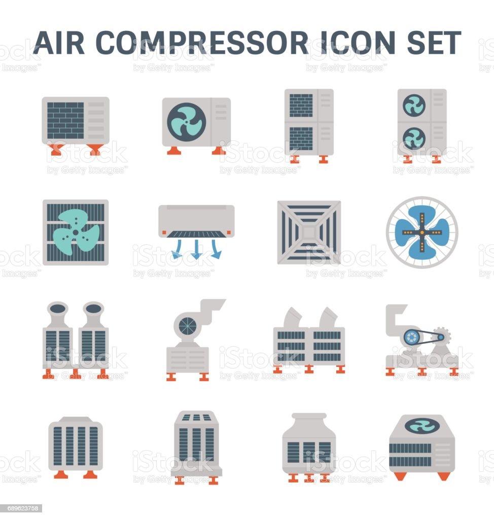 air conditioner icon vector art illustration