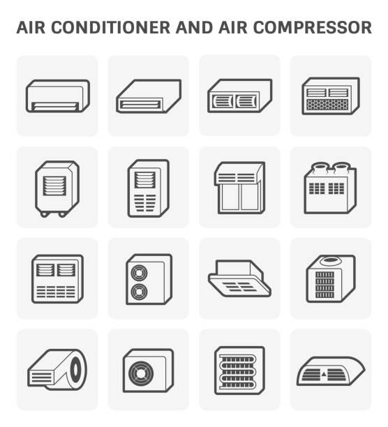 klimaanlage-symbol - kondensation stock-grafiken, -clipart, -cartoons und -symbole