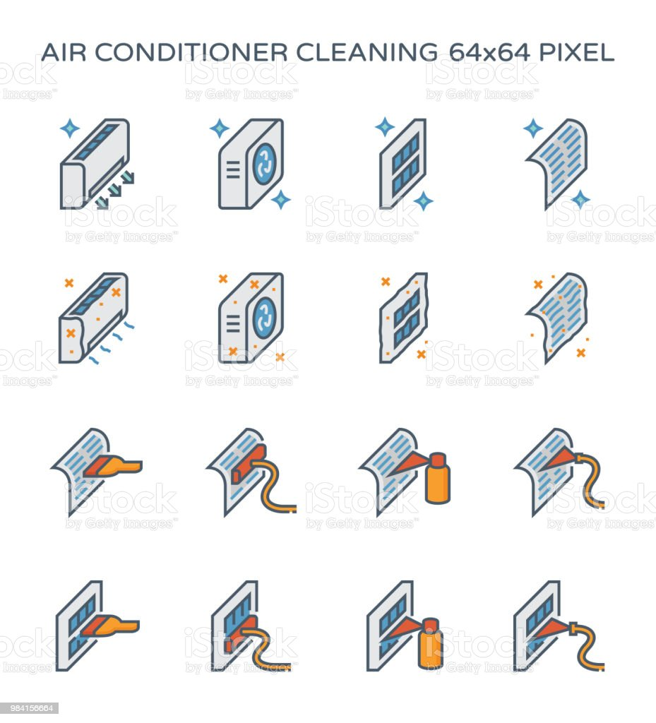 air conditioner icon vector art illustration