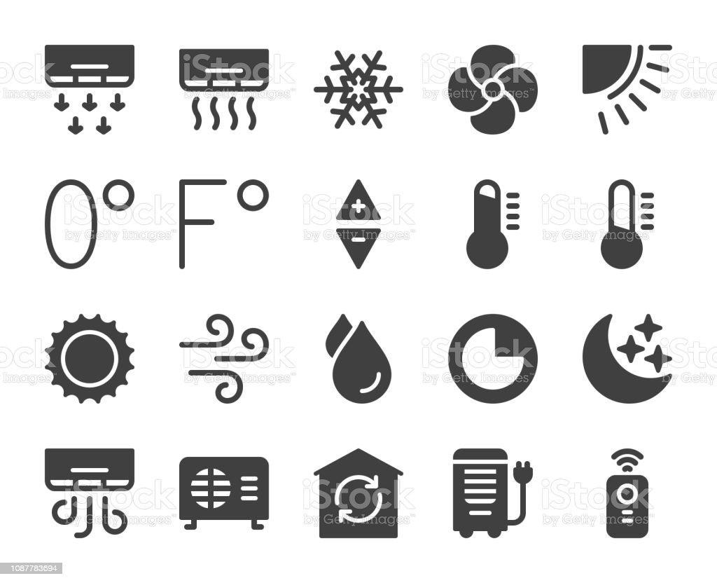 Air Conditioner - Icons vector art illustration