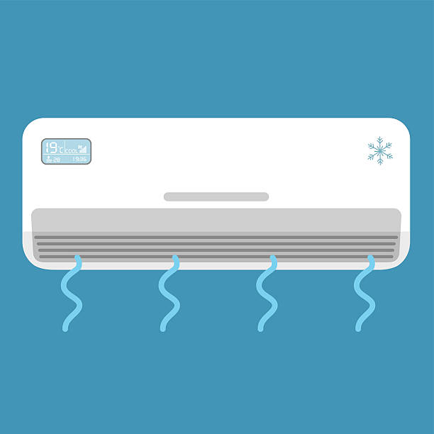 ilustrações, clipart, desenhos animados e ícones de air conditioner system . vector illustration. - ar condicionado