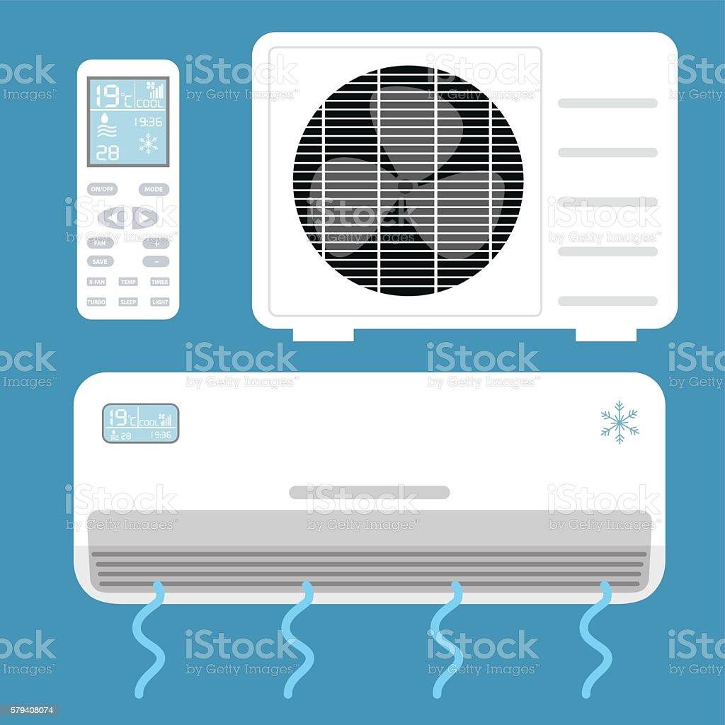 Air conditioner system . Vector illustration. vector art illustration