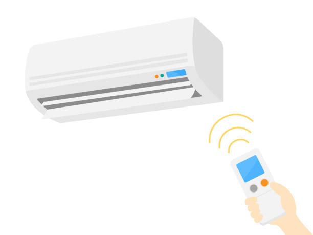 ilustrações, clipart, desenhos animados e ícones de condicionador de ar - ar condicionado