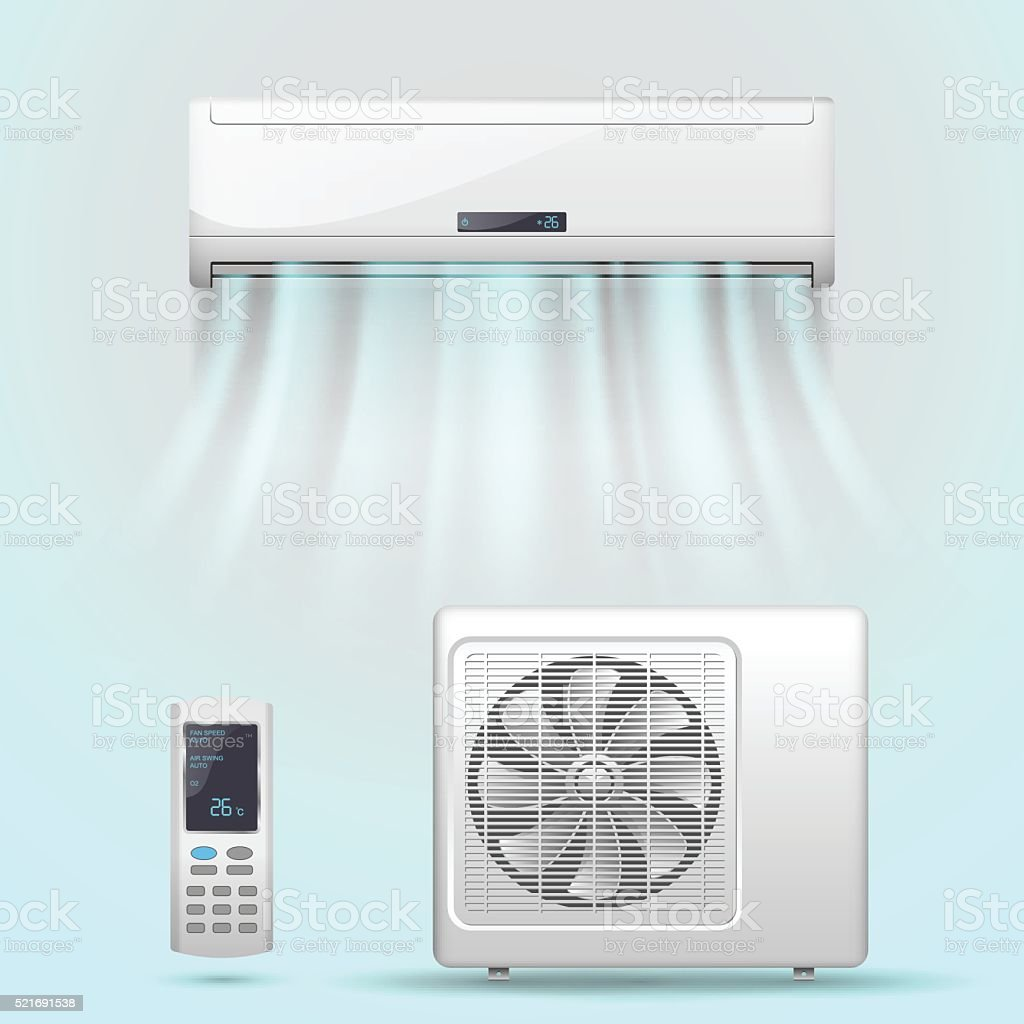 Air conditioner vector art illustration