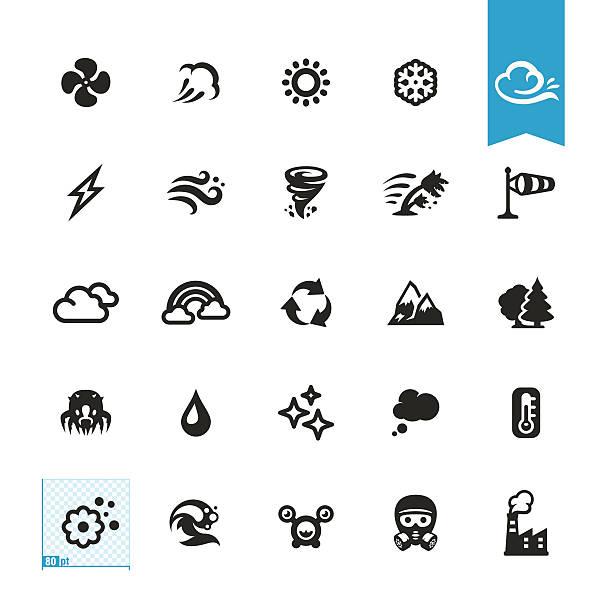 stockillustraties, clipart, cartoons en iconen met air conditioning and purifier related vector icons - bloemen storm