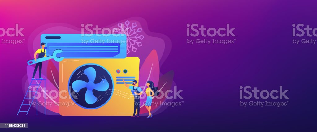 Air Conditioning And Refrigeration Services Concept Banner Header Stock Illustration Download Image Now Istock
