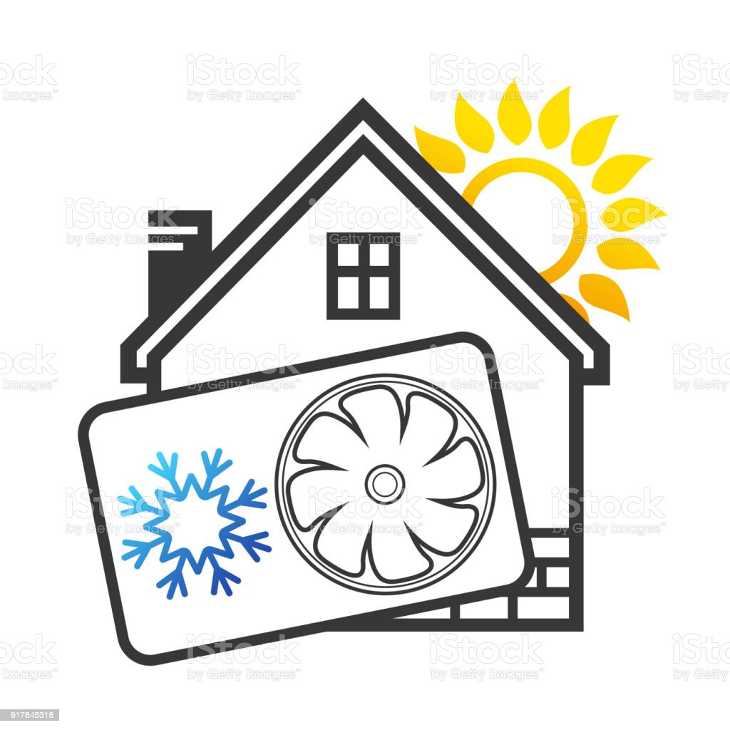klimaanlage haus haus mit klimaanlage und lftung symbol. Black Bedroom Furniture Sets. Home Design Ideas