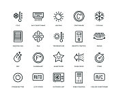 Air Conditioning Icons - Line Series