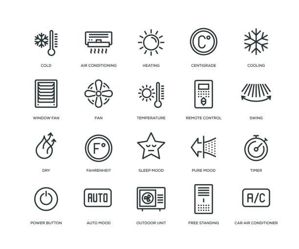 空調圖示-生產線系列 - 寒冷的 幅插畫檔、美工圖案、卡通及圖標