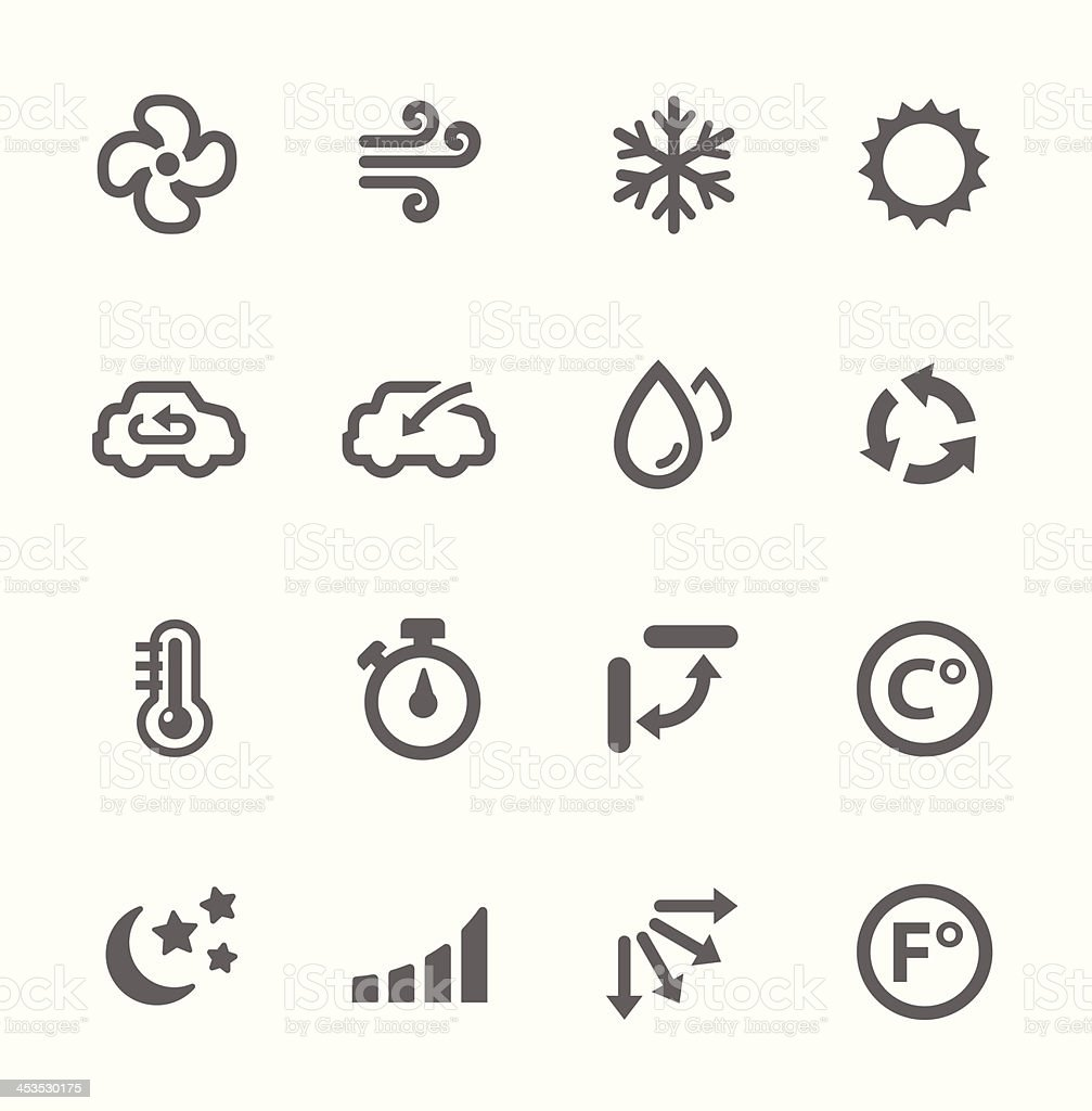 Air Conditioning Icons vector art illustration