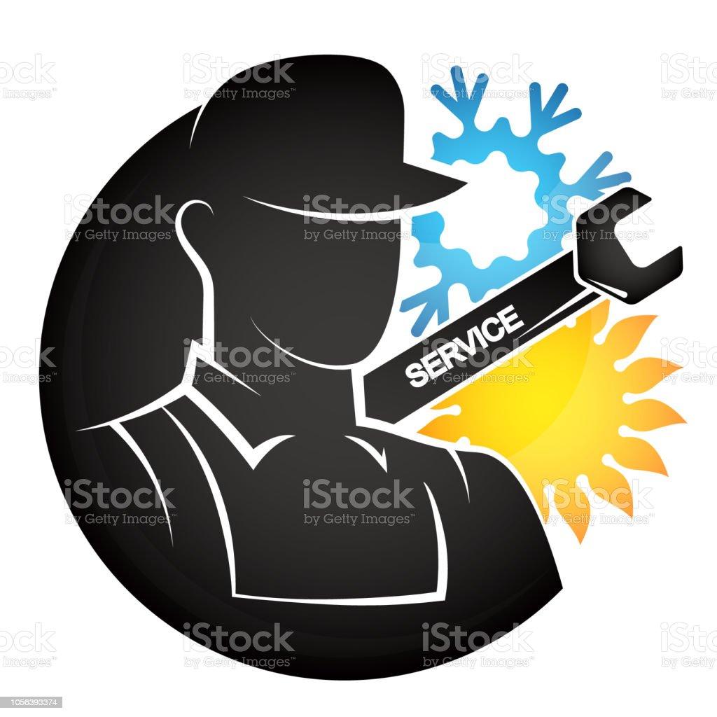 Air conditioning repair master vector art illustration