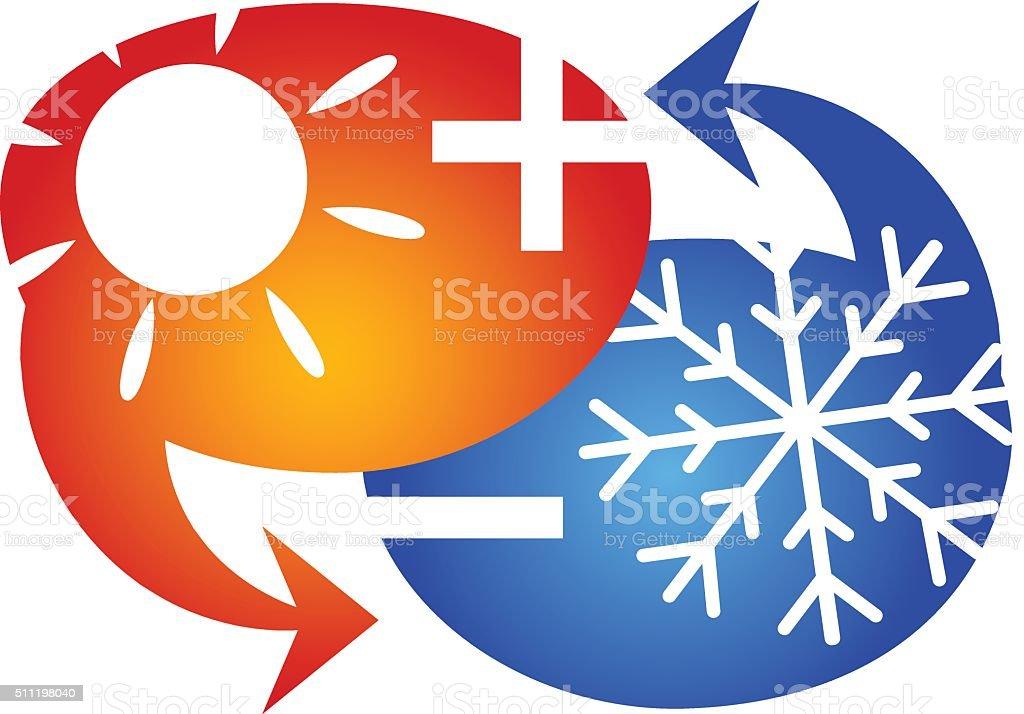 Air conditioning symbol vector art illustration