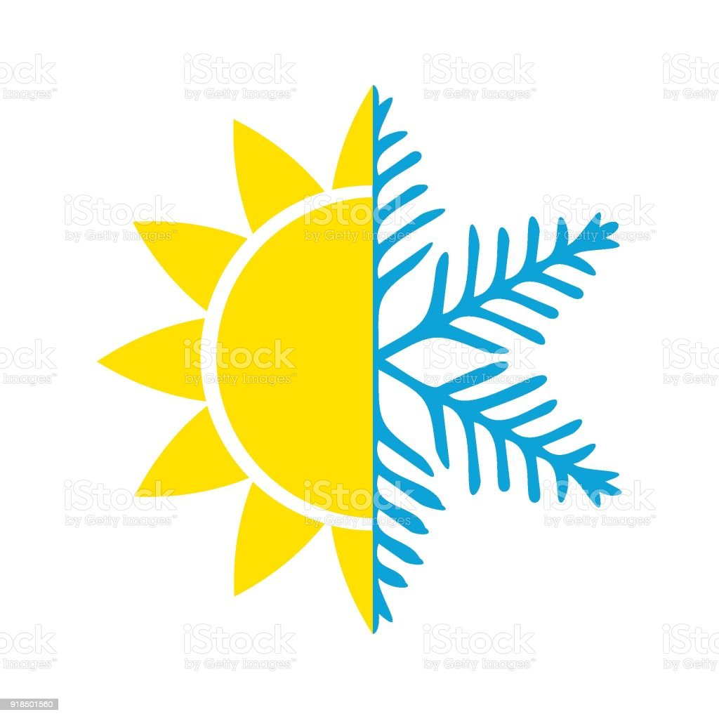 Air Conditioning Vector Icon Summer Winter Stock Vector Art & More ...