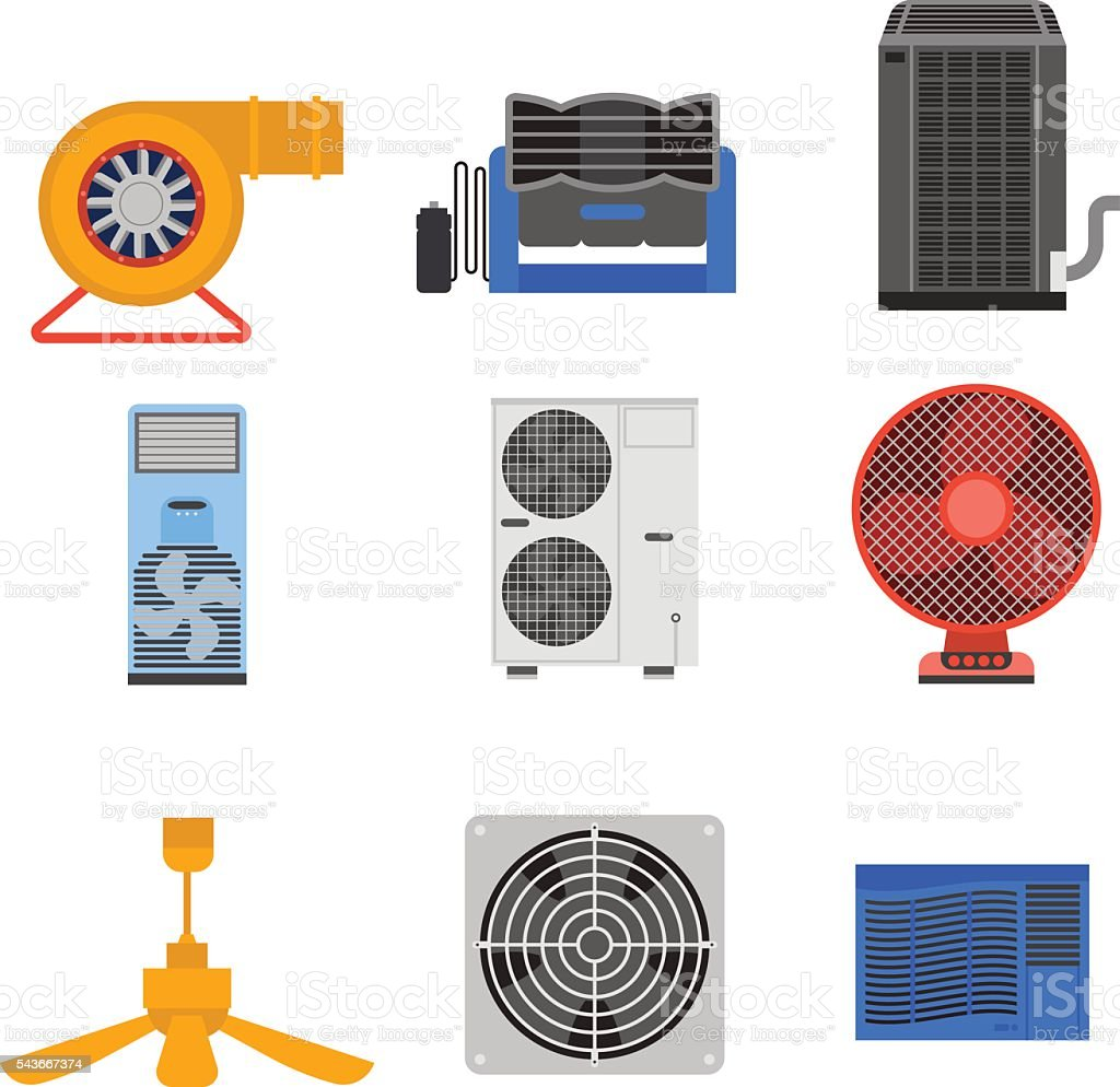 Air conditioning vector illustration. vector art illustration